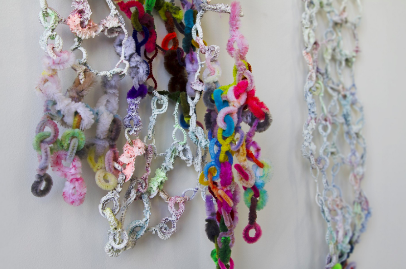 Image of Anne Yafi's pipe cleaner installation